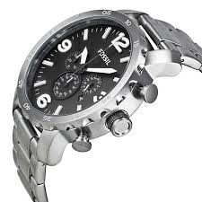 Fossil Nate Chronograph Stainless Steel JR1353